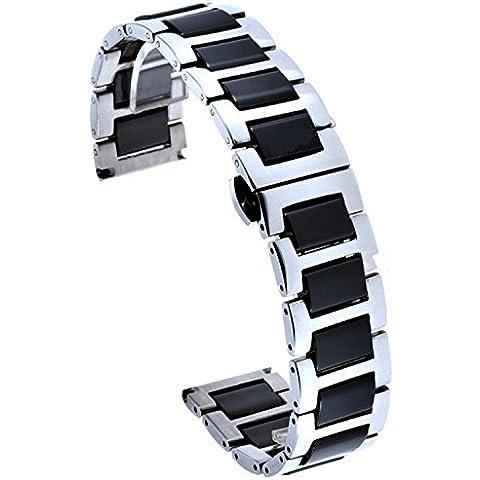 HQ, 20 mm, in acciaio INOX, ceramica e braccialetti per orologi (20 Mm Ceramica)