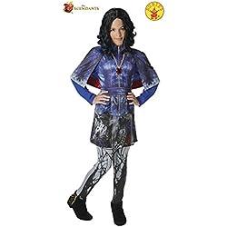 Los Descendientes - Disfraz de Evie Deluxe para niña, 7-8 años (Rubie's 620373-L)