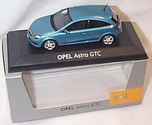 minichamps metallic blue opel astra GTC car 1.43 scale diecast model by minichamps