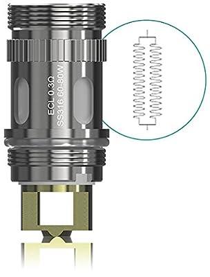DIY-24H - Eleaf EC Head 5er Pack ECL 0.3Ω für iJust S, Lemo 3, iJust 2/iJust 2 mini, MELO 3 III, MELO 2, MELO Verdampferköpfe von DIY-24H