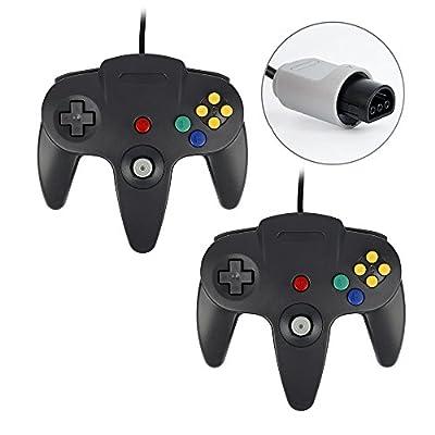 QUMOX 2X Game Controller Joystick for Nintendo 64 N64 System GamePad Black from QUMOX