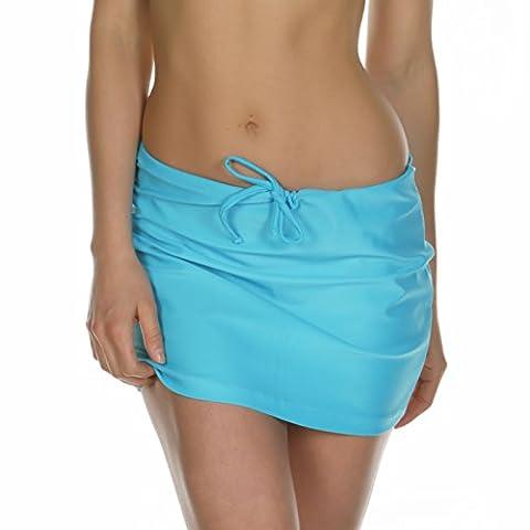 KKompany Women's Summer Beach Swim Skirt Sarong Bikini Cover Wrap Up Swimwear Turquoise Xlarge (Fits Medium &