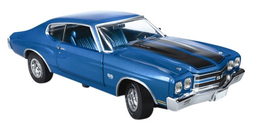 american-muscle-1-43-chevy-chevelle-ss-1970-blue-black-line-by-kyosho