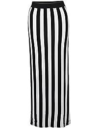 Mélanger lot de nouvelles dames gitanes plaine jupe maxi femmes à long jersey élastiquée longueur toutes les couleurs d'été vêtements de loisirs jupe taille 36-42