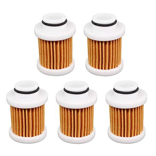AISEN Lot de 5 filtres à carburant pour Hp 4-Stroke Yamaha 30-115 6D8-24563-00-00 6D8-WS24A-00-00