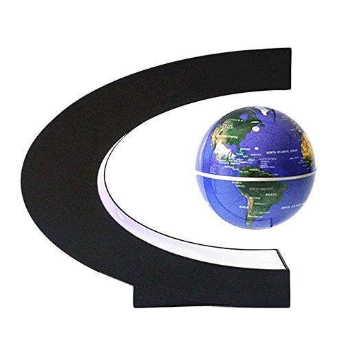 evitation Floating Globe mit LED C-Shape Base Drehen Planeten Erde Globe Für Rezeption Dekoration Office Dekoration Weihnachten Geburtstag Geschenk Blau (Float Dekorationen Ideen)