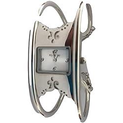 Fontenay Damen-Armbanduhr Analog Quarz Stahl Armreif