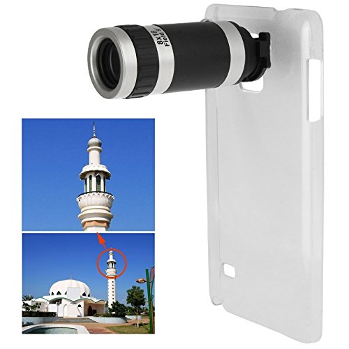 Generic 8 X Mobile Phone Telescope with Transparent Plastic Case for Samsung Galaxy Note 4 / N910