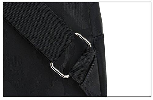 Zaino in nylon impermeabile per sport all' aperto tracolla Sling Crossbody petto con stile casual leggero per gli uomini, Green, Taglia unica Black
