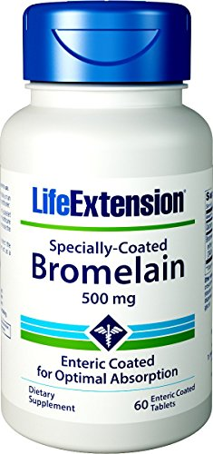Bromelain, Specially-Coated, 500 mg, 60 Enteric Coated Tablets -
