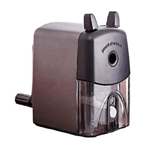 Anspitzer 1 Stück Einfachen Stil Einlochmontage Handkurbel Anspitzer für Home School & Office (Schwarz)