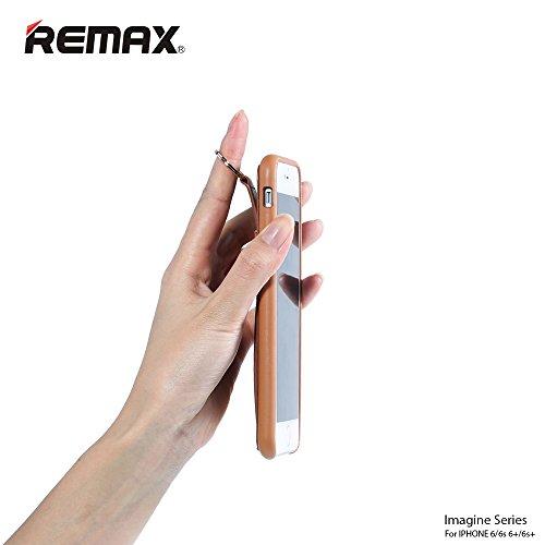 Remax Apple iPhone 66S Plus 11,9cm 14cm FREIHÄNDIGER Cover Ring Gurt Halterung Displayschutzfolie–Bild Serie–VIER Farbe... b018j7b71g, Kunstleder, schwarz, iPhone 6s / 6 (4.7') braun