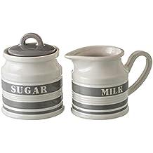 Dcasa - Azucarero y lechera Urban Stoneware 11,40 x 6,80 x 8