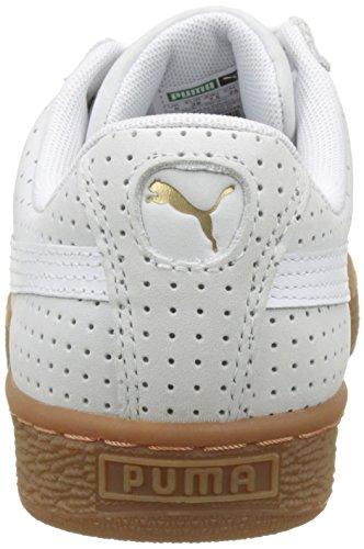 bdfd7f6ccc6aba Puma Women s Basket Heart Perf Gum Low-Top Sneakers