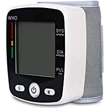 Monitor de presión arterial, esfigmomanómetro de brazo superior con brazalete, 90 juegos de funciones