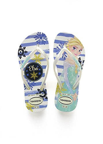 37f3af9c63e4b0 Havaianas Slim Frozen, Infradito Bambina, Bianco (White/Royal), 27/