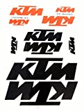 Aufkleber Sticker Set Orange Schwarz 10 Stück auf A4 Bogen