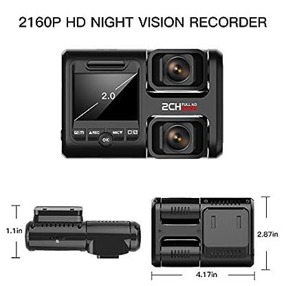 HOFOUND-DashCam-Full-HD-1080P-Vorne-und-1080P-Hinten-Kamera-Dash-Camera-Dual-Lens-170-Weitwinkel-Autokamera-mit-GPS-G-Sensor-Loop-Aufnahme-Bewegungserkennung-inkl-32GB-Speicherkarte