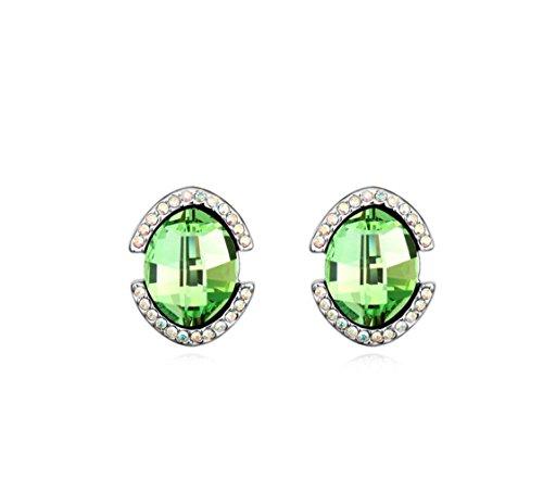 Erica Mousseux autrichienne Crystal boucles d'oreilles pour femmes filles green