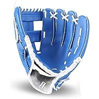 GXQ-AIJINGYU Equipo de práctica de softbol con Guantes de béisbol, tamaño 10.5/11.5/12.5, Mano Derecha para niños, jóvenes, Adultos, Hombres, Mujeres, Trenes, Tres Colores
