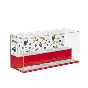 LEGO 40700001 Play & Display Case-Iconic, Rojo Carcasa de Ordenador