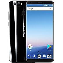 Smartphone Libre - ULEFONE MIX 2, 18:9 Pantalla Completa 4G Android 7.0 5.7 inch MTK6737 Quad Core 1.3GHz 2GB RAM 16GB ROM Escáner de Huellas Digitales Función OTG 3300mAh - Negro