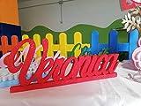 Nome in Polistirolo/Polistirene personalizzato con base d'appoggio max 50cm di larghezza.