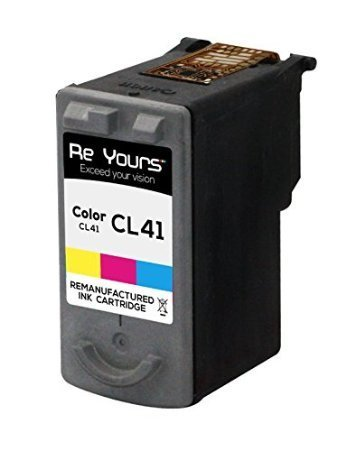 Reyours Canon CL-41Remanufactured Tri-Colour Printer Ink Cartridges.. New chip with