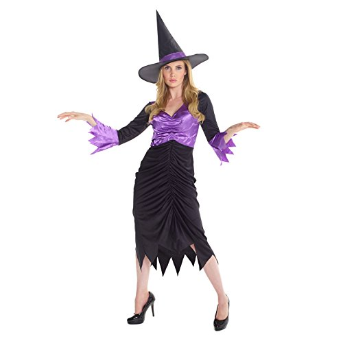 779a2578713 Womens Colourful Purple Witch Magical Fancy Dress Costume - High Quality  Costume