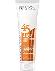 REVLON PROFESSIONAL 45 Days Shampooing/Après-shampooing 2 en 1 Protecteur de Couleur Coppers Cheveux Cuivrés/Roux, 275 ml