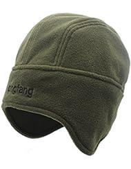 582b980b6aad4 outfly Unisex Polar Fleece Skullies Gorra Beanie Hats con Earflaps Cotton  Liner