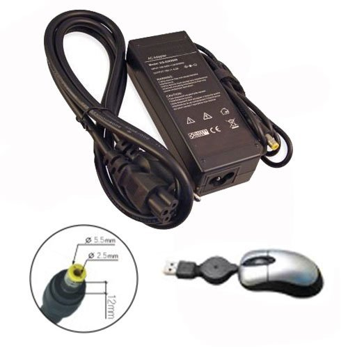 amsahr IBM19V4.2A80W-05 Ersatz AC Power Adapter für IBM 19V, 4.2A, 80W, PCG: A20M, A20P, A21, A21E, A21M, A21P A22E - Umfassen Mini Maus schwarz (T42 Mini T41)