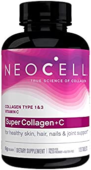 Neocell Super Collagen + C Type 1 & 3 - Supports Hair, Skin, Nails, Joints, Bones (120 Tabl