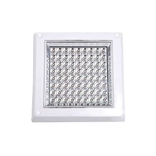 Aubig 8W 100LEDs White 6000-6500K Decorative LED Ceiling Light Modern Fashion Square Unfold Mounted Dining Room Kitchen Bathroom Bedroom Study Balcony Aisle Lamp Lighting Fixture AC110-245V