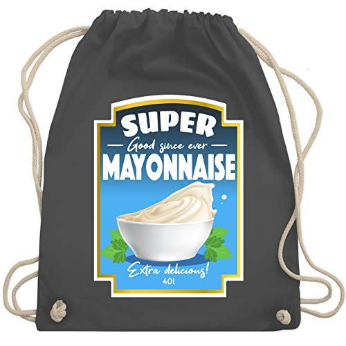 Karneval & Fasching - Mayonnaise Kostüm - Unisize - Dunkelgrau - WM110 - Turnbeutel & Gym Bag