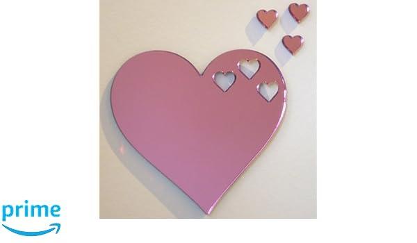 Mungai Mirrors 30cm Heart Acrylic Mirror