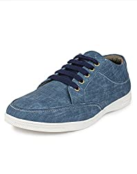 Do Bhai ST-010 Fashionable Smart Casual Shoes for Men (UK7, Blue)