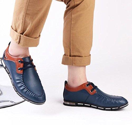 Nuovi Uomini Affari Tempo Libero Cuoio Molle Versione Coreana Scarpe Blue