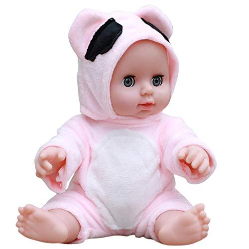 Oliviavan-Puppe Super süße Dolls Kindheit-Partner-Puppe Plastische Simulation Babypuppe Spiel Puppe Kostüm Klein/Weich Silikon Vinyl 30cm