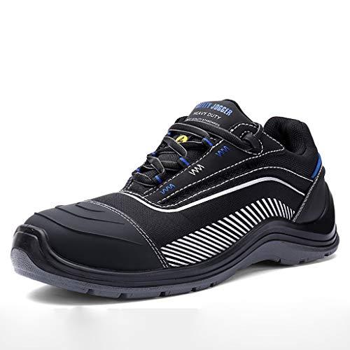 Scarpe antinfortunistiche Scarpe protettive, scarpe antinfortunistiche for uomo e donna, stivali da lavoro bassi, scarpe antinfortunistiche con puntale in acciaio plastico ultraleggero, antisfondament