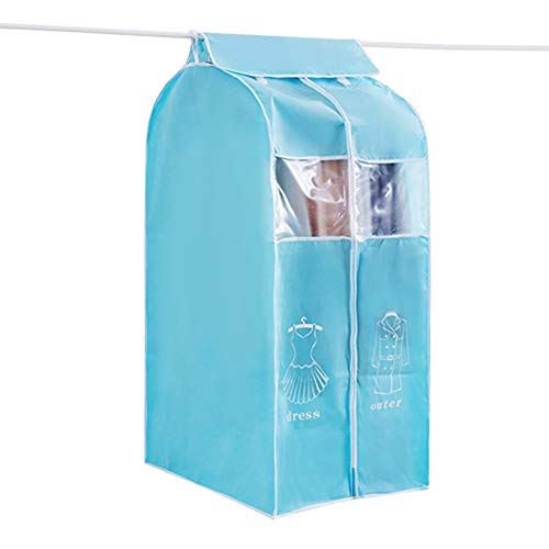 Gaoxu Kleidersäcke HAKN Staubschutz, 50 * 60 * 108CM Vliesstoff-Kleidersack-stereoskopisches Kleid mit Tanz-Kostüm-hängender Tasche (Farbe : Blue L, größe : 50 * 60 * ()