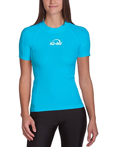 iQ-UV Damen 300 Slim Fit UV T-Shirt, Türkis, S (38)