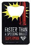 Superman Pop Art Stainless Steel Super Hero Credit Card Bottle Opener by Adventure Trading