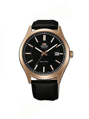 Orient FER2C001B0 Classic Montre automatique en cuir pour homme Avec fond en verre et affichage de la date Rosé