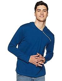 GRITSTONES Men's Cotton Full Sleeve Hooded T-Shirt