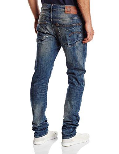G-STAR RAW 3301 Slim, Jeans Homme Bleu (Dark Aged 6566)