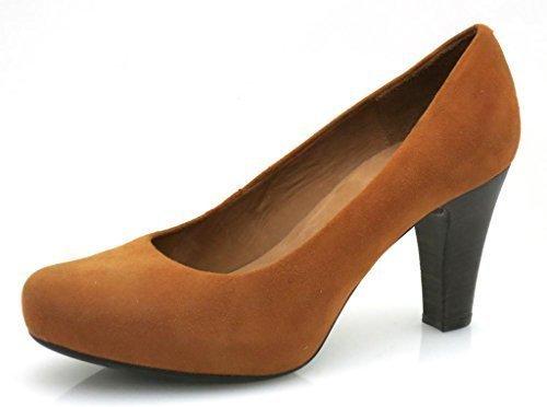 Chaussure chaussures damenpumps unisa escarpin en daim Orange - Kupfer