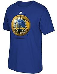 "Golden State Warriors Adidas NBA ""Logo Ball"" Premium Print S/S Men's T-Shirt Chemise"