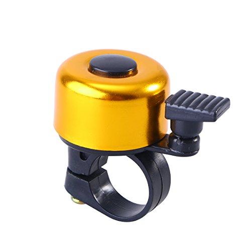 VORCOOL Aluminiumlegierung Fahrrad Lenker Bell Bike Ring Ringer Rennräder MTB Horns Fahrradklingel Fahrrad Zubehör (Golden) Golden Ringers