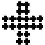 Creamlin 10Pairs Nero Nurse Croce adesiva Cross Nipple Cover Pasties monouso (Nero)